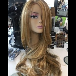 Accessories - Blonde Wig lacefront middle part 30+ inch Long Wig